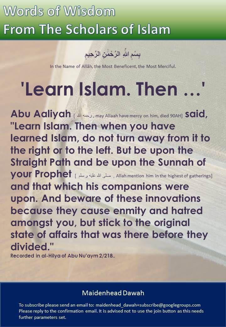 'Learn Islam. Then …'