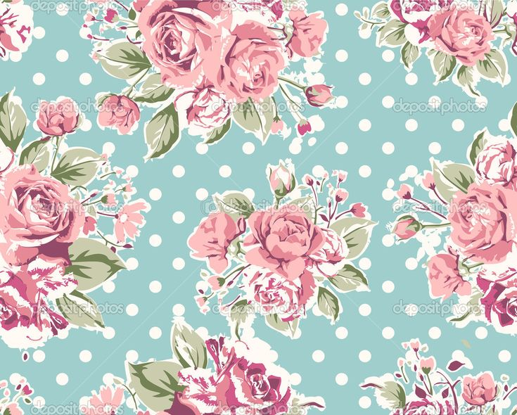 Vintage wallpaper flowers  8 best Floral backgrounds images on Pinterest | Background vintage ...