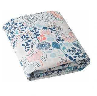 MEADOW POWDER BLUE FITTED CRIB SHEET - $54.95 - Follow the rabbit to a land of whimsy and wonder in this Scandinavian inspired floral motif.   100% cotton.  Fits a standard rectangular crib mattress.  71cm x 132cm x 20cm #sweetcreations #kids #bedding #linen #manchester #bedroom #dwellstudios