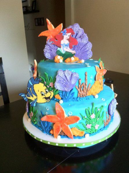 9 best Ariel cakes images on Pinterest Little mermaid cakes