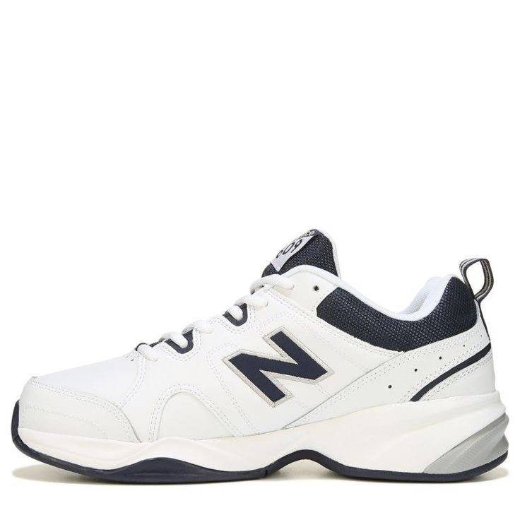 New Balance Men's 609 V3 Memory Sole X-Wide Sneakers (White/Navy) - 10.0 4E