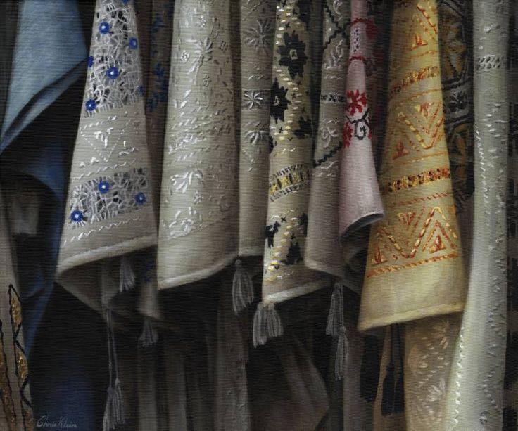 "Costumes of Romania, 34""x20""  unframed"