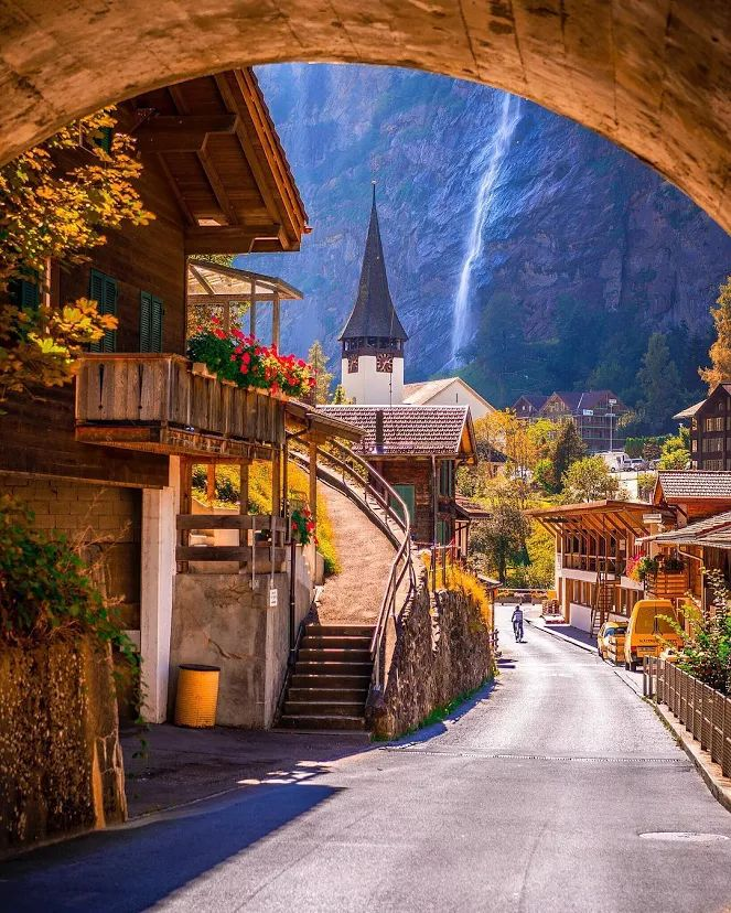 Switzerland. Is this a painting?! It almost looks too beautiful to be real...