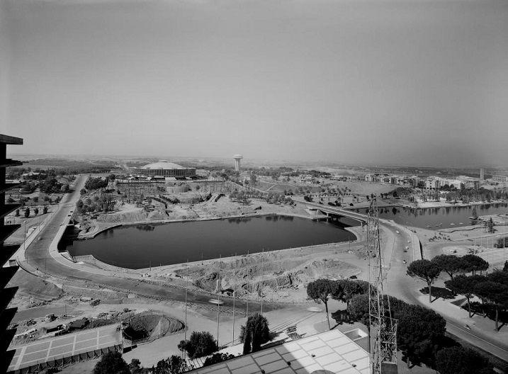 Foto storiche di Roma - EUR - Via Cristoforo Colombo Anno: 1959