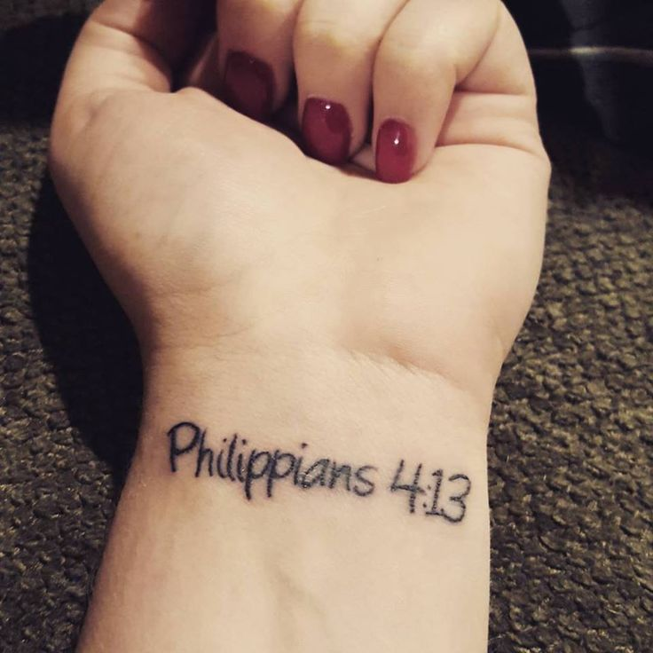 Philippians 4:13 tattoo on wrist - I can do All things through Christ who strengthens me