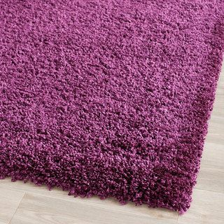 Safavieh Cozy Solid Purple Shag Rug (5'3 x 7'6) - Overstock™ Shopping - Great Deals on Safavieh 5x8 - 6x9 Rugs