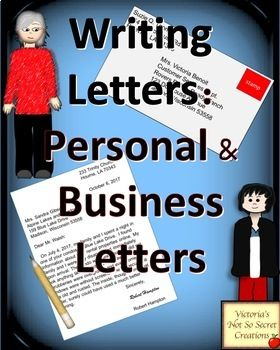 PDF FORMAT Vocabulary Page - key terms: resume, formal, informal, mailing address, return address, heading, salutation, signature, complimentary close, greeting, heading, inside address, and body. Information with EXAMPLES on the following: Formal and Informal Letters