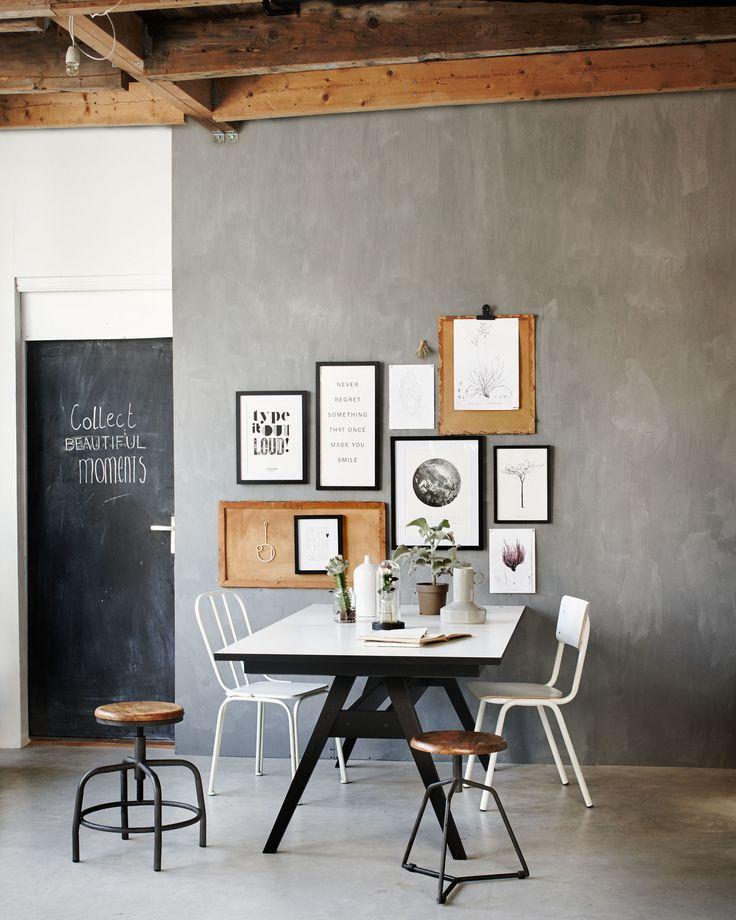 Grey industrial workspace