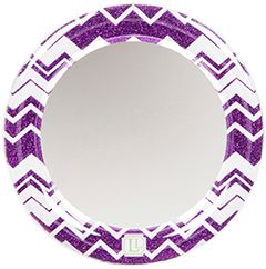 Purple Chevron Glitter Locker Mirror