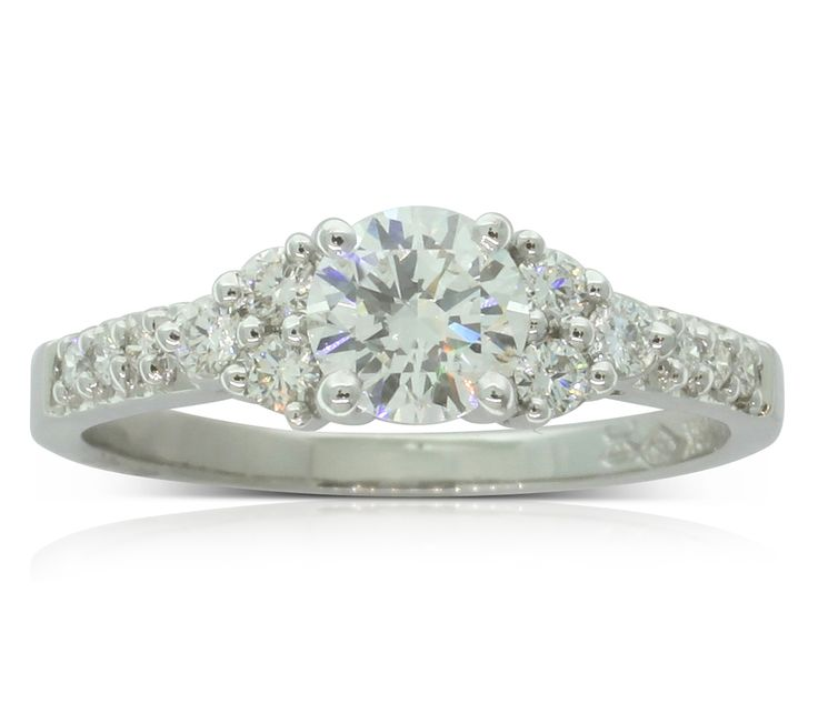 18ct white gold .58ct diamond engagement ring