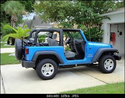 Dream Car Bright Color Jeep No Doors No Top Jeepers