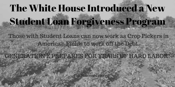 New WH Student Loan Forgiveness Program deals with New WH Immigration Proposal