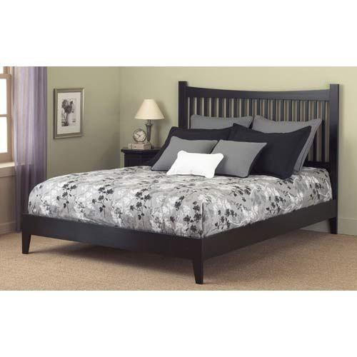 Jakarta Black Bed Frame Full Full Platform Beds Bedroom Furniture