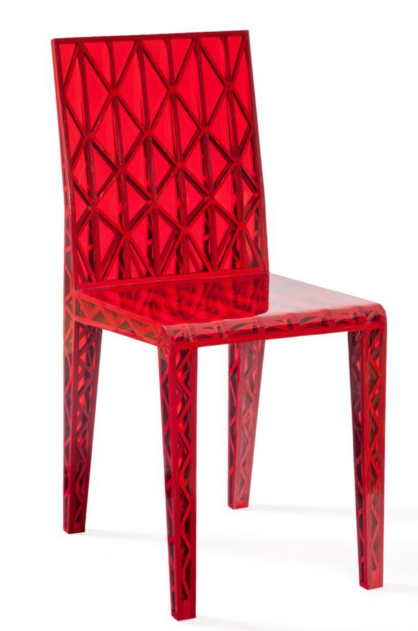 Chair tr s jolie by moustache red red furniture for 80s chair design