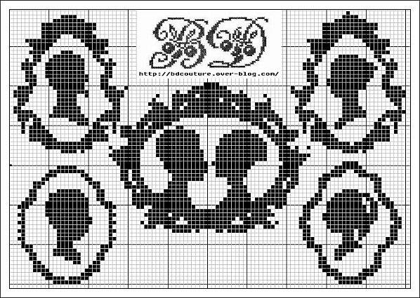 family silhouette cross stitch