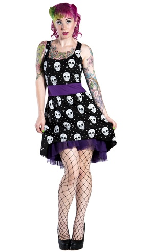 Sourpuss sugar skull dress