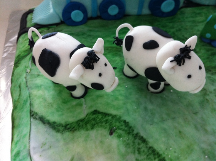 Fondant cows