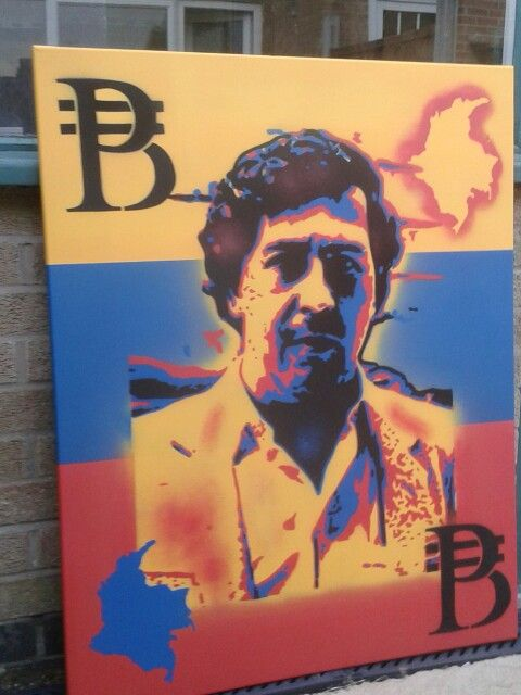 Pablo escobar painting finished