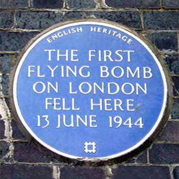 Plaque erected in 1988 by English Heritage at Railway Bridge, Grove Road, Bow, London E3, London Borough of Tower Hamlets
