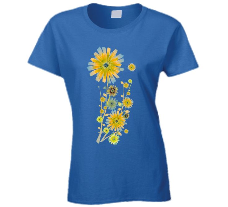 Yellow Flowers unique print on women's t-shirt. Sizes S-2XL, 9 colors available ___________________________ #flower #flowers #camomile #daisies #orange #cloth #art #tshirt #shirt #blue #colorful #floral #pattern #ladies #women #clothing #ornament #texture #colors #nature #look #fashion #print