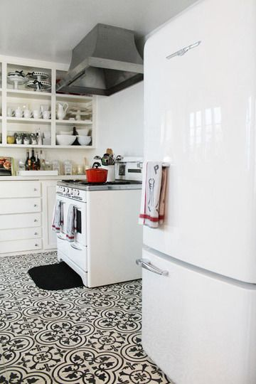 @Alex Jones Jones Jones Jones Atkinson Silver - Moorish-inspired kitchen.  (I think it's just the tiled floor, but this made me think of you!)