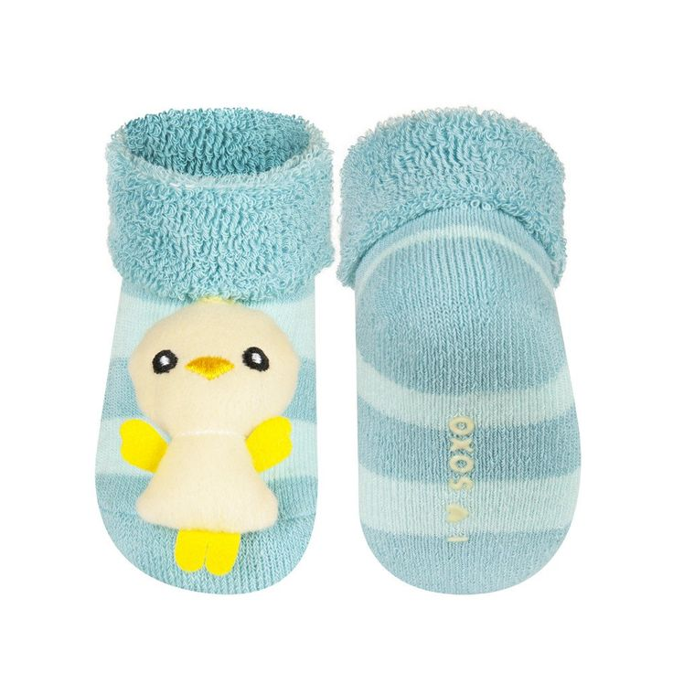 BABY RATTLE SOCKS 'SOXO' SMALL - CHICK    #MamaFashionMe - Aussie Online Store with Beautiful Accessories for Girls + Some for Boys