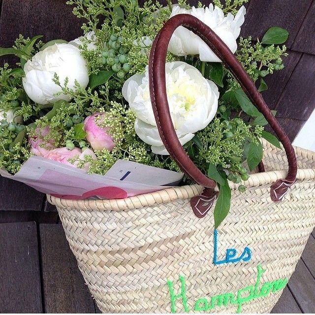 Grand Osier Mariage//Affichage floral panier
