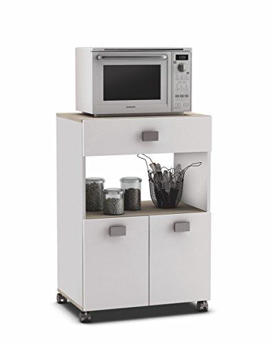 17 mejores ideas sobre aparador blanco en pinterest - Mueble cocina microondas ...