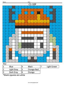 C1-10P- Star Wars Rebels Subtraction coloring activity