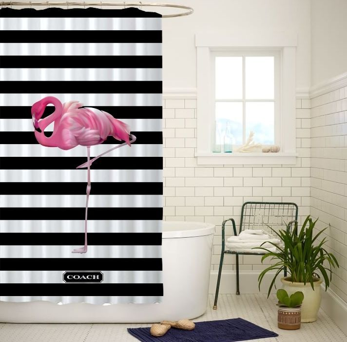 New Flamingo Stripe Black White High Quality Custom Shower Curtain 60x72 Inch #Unbranded #Modern#Unbranded #Modern #shower #curtain #showercurtain #bath #rings #hooks #popular #gift #best #new #hot #quality #rare #limitededition #cheap #rich #bestseller #top #popular #sale #fashion #luxe #love #trending #girl #showercurtain #shower #highquality #waterproof #new #best #rare #quality #custom #home #living #decor