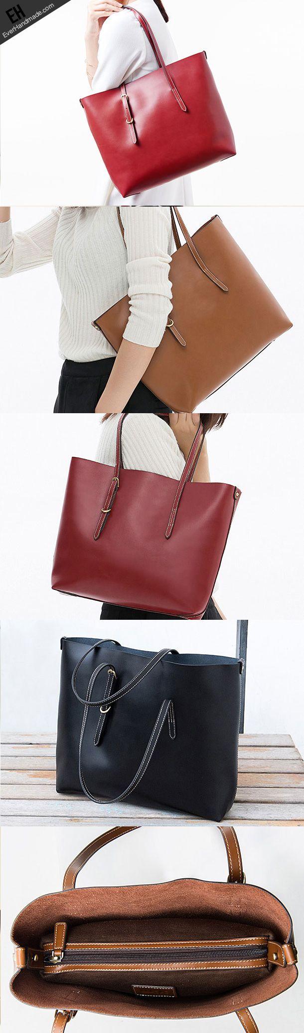 Genuine Leather handbag shoulder bag large tote for women leather