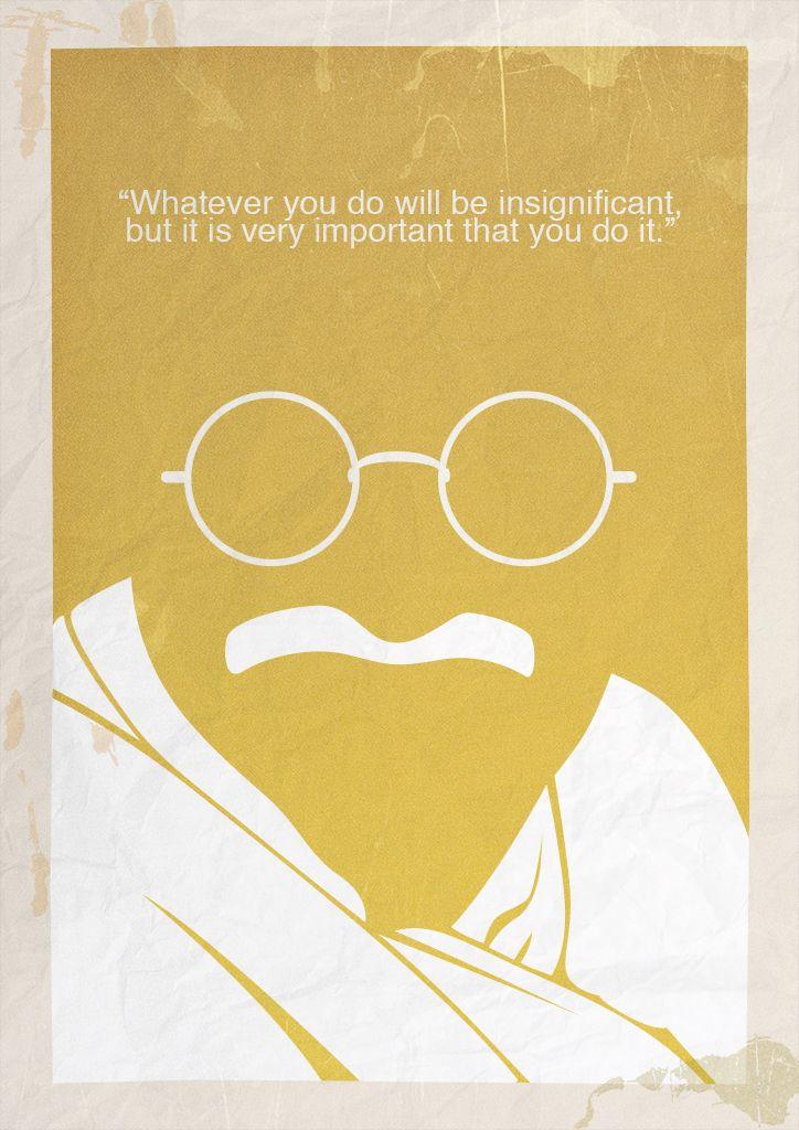 Gandhi Minimalist Poster