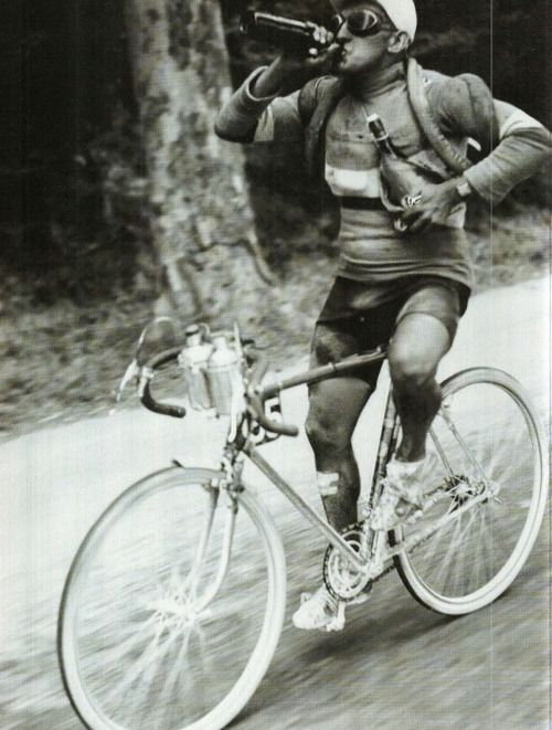 beer during the 1930 Tour de France - isotonic drink - I'm in training for the next one...