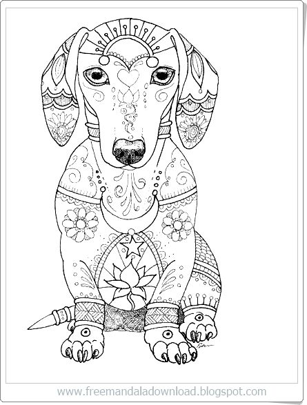 Hund Mandala Frei Bedruckbar Free Mandala Download Dog Mandala