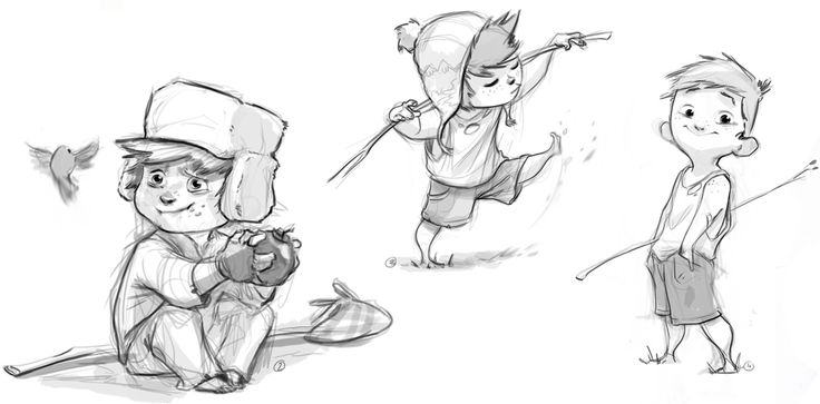 Little boy sketches by DEISIGN: Character Design