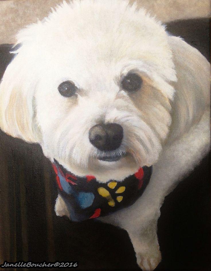Mickey, 8x10 acrylic on canvas