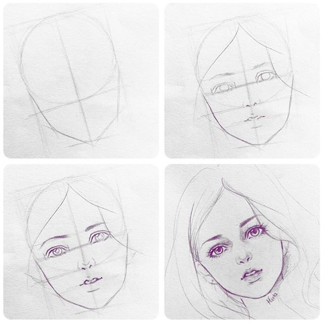 Difference Beauty Manga Anime Draw Art Artwork Sketch Tutorial Girl Drawing Sketches Tutorial Drawing Tutorial Face Drawing Artwork