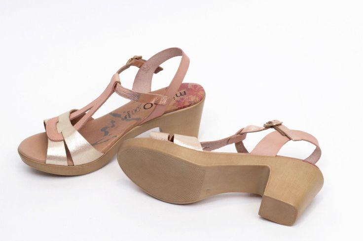 miMaO Eivissa S Maquillaje –Sandalias mujer tacón plataforma  oro cómodo piel - Comfort women's sandals heel platform make up sand metal gold leather