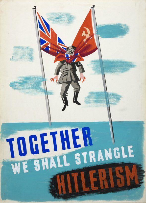 "Engelse propaganda wo2 ""Together we shall strangle Hitlerism"""