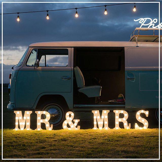 Photo booth | Kombi van photo booth | marquee letter lights | festival wedding | wedding inspiration | 2015 wedding