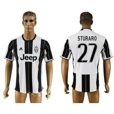 Juventuss 16-17 #Sturaro 27 Hemmatröja Kortärmad,259,28KR,shirtshopservice@gmail.com