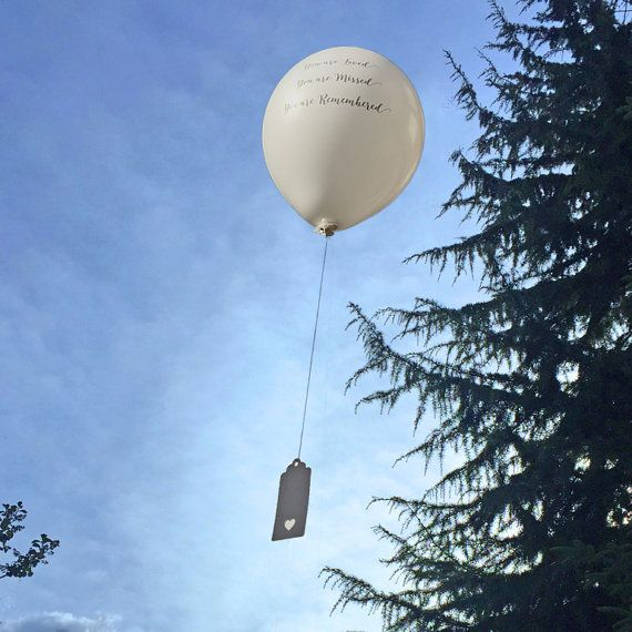 10 Funeral Balloons Release Kit - 10 balloons, seals, string & tags. Memorial, Celebration of Life, Remembrance, Wake