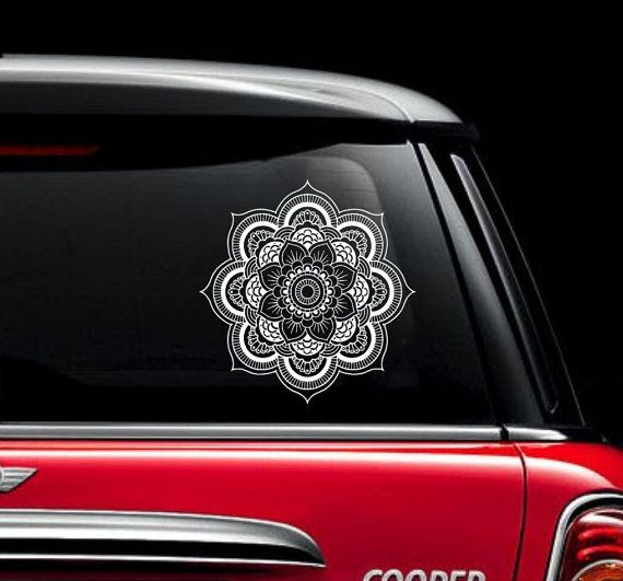 Mandala Car Decal Vinyl Sticker Decals Car by IncredibleDecals