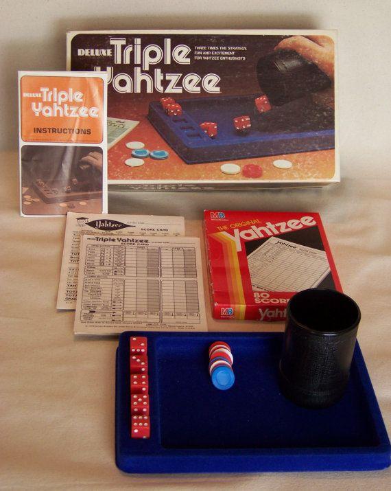 Game Night Vintage 1978 Triple Yahtzee Game by HoleyGwackamoley, $8.00