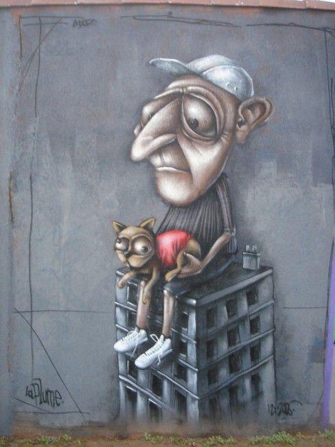 graffiti by Ador in Nantes (France)