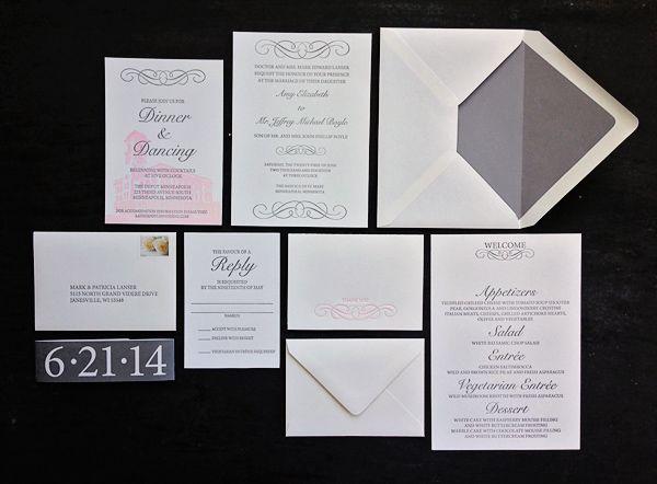 Featured Wedding Invitation Design: Modern Formal Invitation Suite by 622 Press (9)