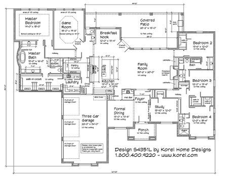 s4351l texas house plans over 700 proven home designs online by korel home designs