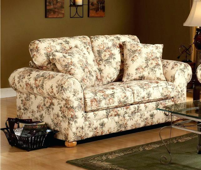 Floral Sofas And Loveseats Sofa Design Printed Fabric Sofa