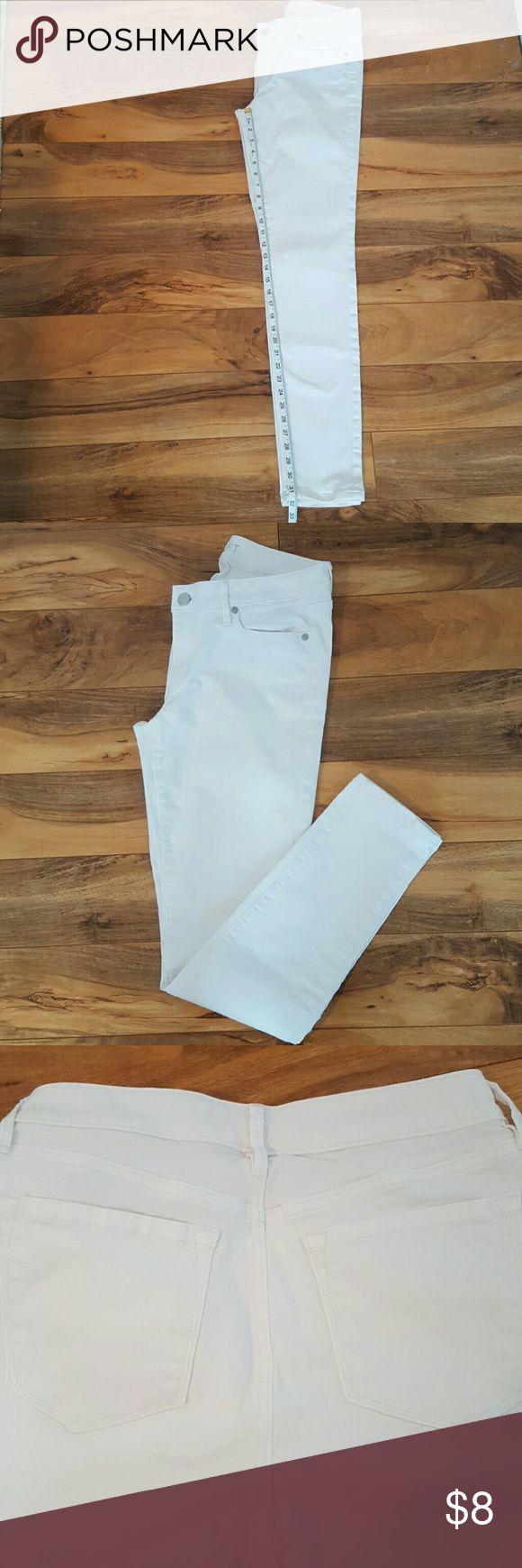 Ann Taylor Loft Curvy Skinny White Jeans