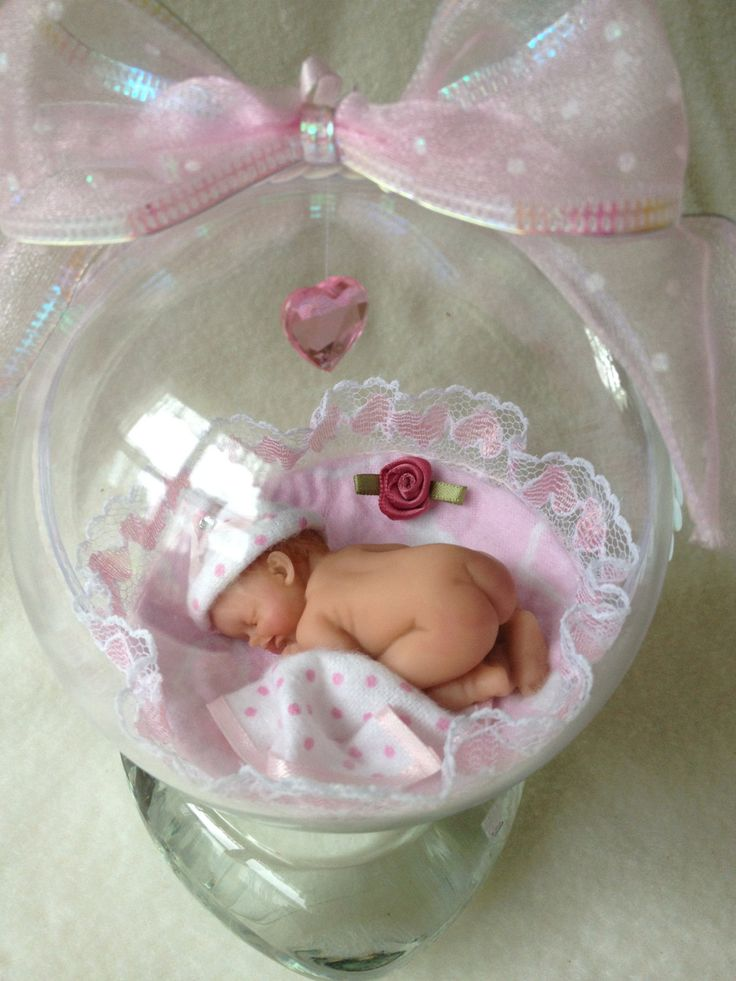It's a Baby Girl...4 Polymer Clay Baby Ornament by pattispeanuts
